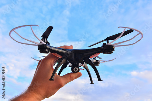 Zdjęcia Modern Technology Copter closeup Aircraft Drone