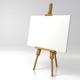 Wooden painter easel - 133496269