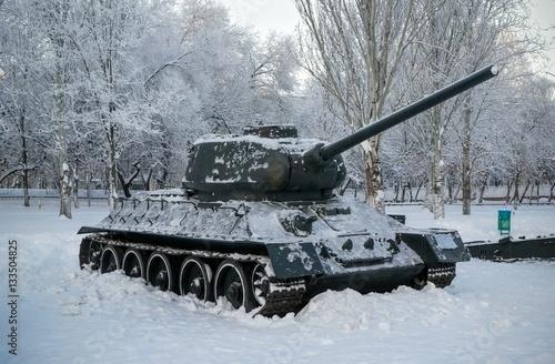 Poster лучший танк второй мировой войны Т-34