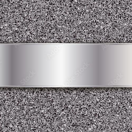 Tekstura srebrny brokat. Streszczenie wektor tle metalu