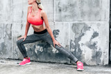 Fototapety Woman in sports clothing and shoes