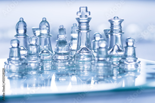 Poster glass chess