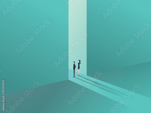 Business People Standing In A Gate Or Door As A Symbol Of Business