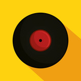 vinyl retro music icon vector illustration design