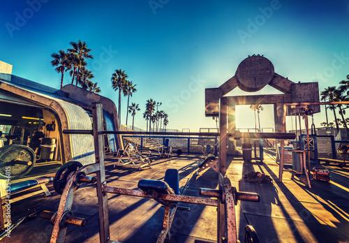 Muscle Beach in Los Angeles