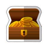 game Treasure chest icon vector illustration design