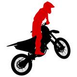 Fototapety Silhouettes Rider participates motocross championship. Vector illustration