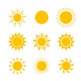 Fototapety Vector modern sun set sunshine
