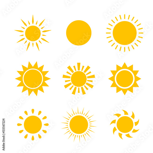 Vector modern sun set sunshine