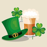 saint patrick day set icons vector illustration design