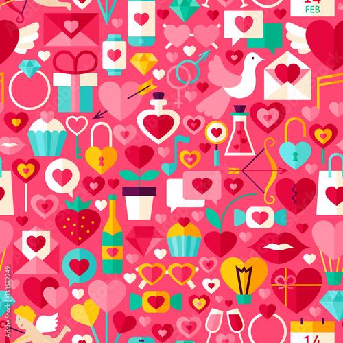 Materiał do szycia Walentynki-dzień różowy wzór