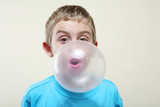 Blowing a bubble - 133576855