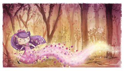 niña princesa hada de flores