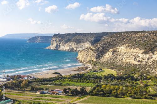 Fotobehang Cyprus Mediterranean seacoast on Cyprus