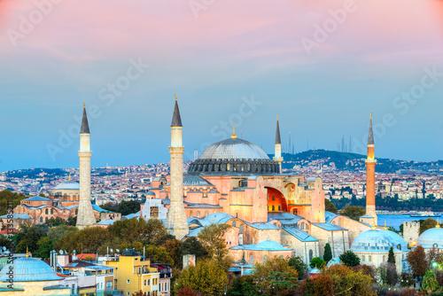 Poster Hagia Sophia mosque, Istanbul, Turkey.