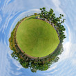 Circle Panorama of public park