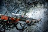 Gold mining underground - 133594876