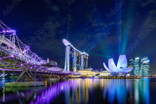 Poster Singapore Light Show