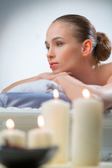 Young women in the spa - salon