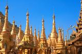 Old statues of elephant, Maha Bodhi Ta Htaung monastery, Myanmar