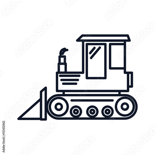 Poster Tractor Icon Illustration Isolated Vector Sign Symbol