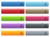 Anchor icons on color glossy, rectangular menu button