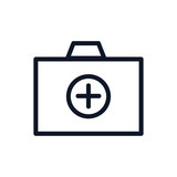 Medical Bag Icon Illustration Isolated Vector Sign Symbol