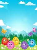 Happy Easter eggs theme image 2