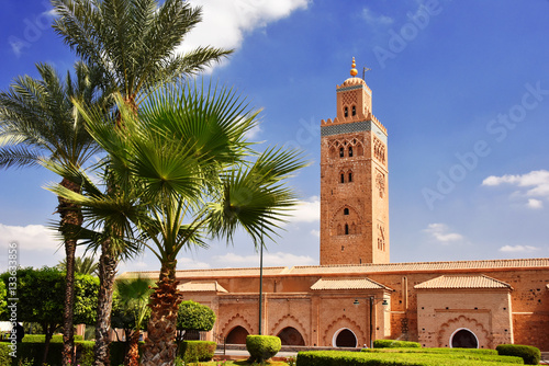 Poster Marokko Koutoubia Mosque in the southwest medina quarter of Marrakesh
