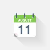 11 august calendar icon