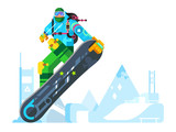 Snowboarder cartoon character