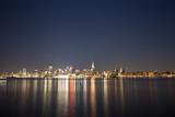 East Side Manhattan  seen froom Hoboken, New Jersey. Long exposure. - 133640032