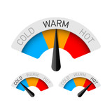 Cold, warm and hot temperature gauges