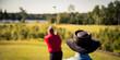 Hat of a golfer