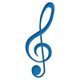 Violinschlüssel blau