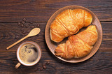 Fototapety Coffee with croissants