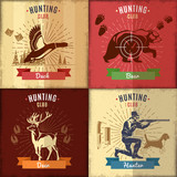 Hunting Club Emblems Set