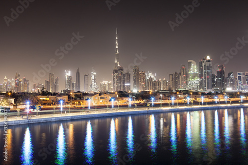Poster Dubai downtown skyline