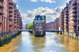 Popular Water Castle in the warehouse district Hamburg