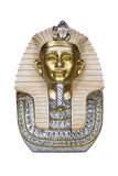 The bust of Tutankhamen isolated on white with clipping path.
