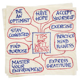 tips for well being on napkin - 133717270