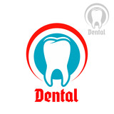 Dentistry vector isolated icon or emblem