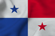Panama flag 3D illustration symbol. Panama flag