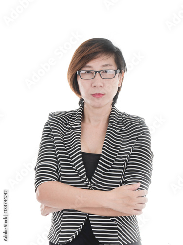 Poster Smart Asian business woman