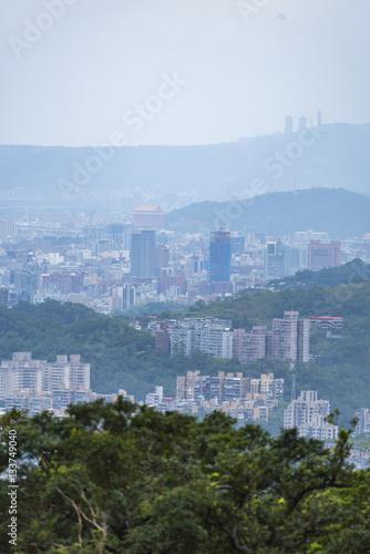 Poster Taipei city twilight view