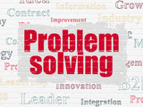 Business concept: Problem Solving on wall background