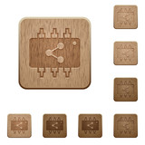 Connect hardware wooden buttons
