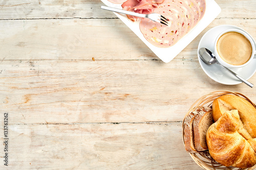 Poster Simple continental of international breakfast