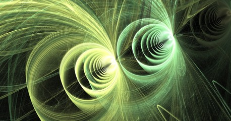 fractal green loops and vortices