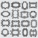 Set of vintage frames. Retro decorative borders